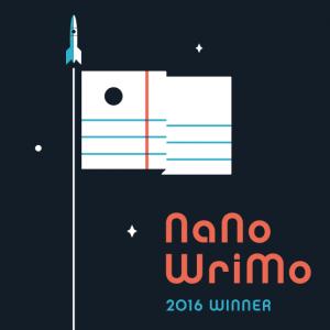 NaNoWriMo 2016 winner's badge